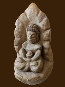 Medicine Buddha - Ceramic Sculpture by Michael Hofmann
