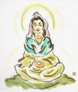 Prajnatara - Sumi-e Brush Painting by Michael D. Hofmann