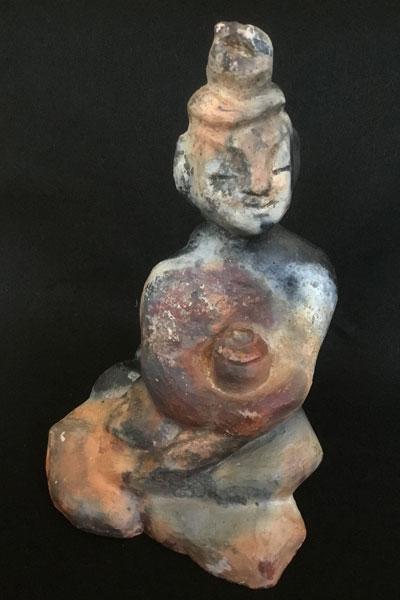 Healing Buddha (pit-fired) by Michael Hofmann