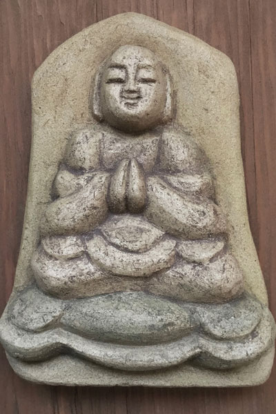 Buddha Greeting by Michael Hofmann